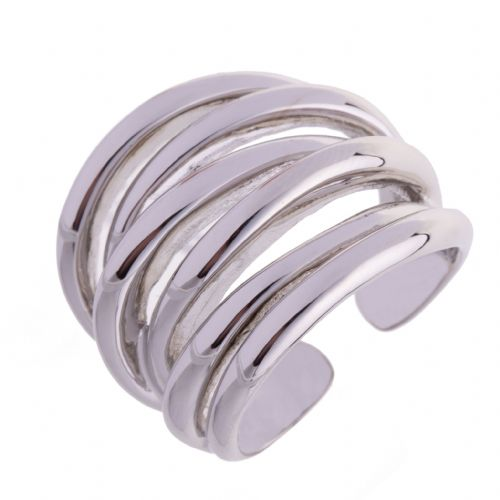 Bisoux Jewelery Chunky Multi Loop Ring in Silver